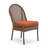 Coquina Key Outdoor Wicker Dining Side Chair Driftwood