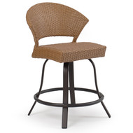 Empire Outdoor Wicker Counter Height Stool Cork