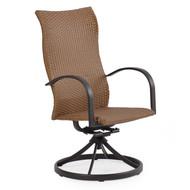 Empire Outdoor Wicker Swivel Tilt High Back Dining Chair Cork