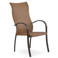 Empire Outdoor Wicker High Back Dining Chair Cork