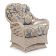 Coquina Key Outdoor Wicker Spring Chair White Sand