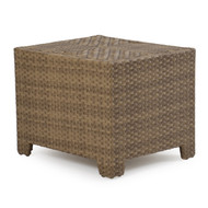 Kokomo Outdoor Wicker Storage End Table Oyster Grey