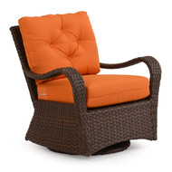 Kokomo Outdoor Wicker Swivel Glider Chair Tortoise Shell
