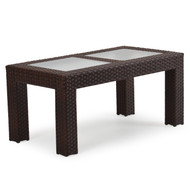 Kokomo Outdoor Wicker Cocktail Table Tortoise Shell
