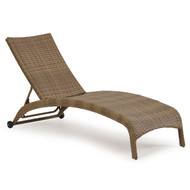 Kokomo Outdoor Wicker Armless Chaise Lounge Oyster Grey