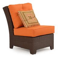 Kokomo Outdoor Wicker Armless Chair Tortoise Shell