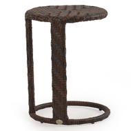Kokomo Outdoor Wicker Round End Table Tortoise Shell
