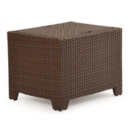 Kokomo Outdoor Wicker Storage End Table Tortoise Shell