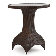 Kokomo Outdoor Wicker Counter or Bar Height Table Tortoise Shell