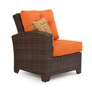 Kokomo Outdoor Wicker Chair Left Facing Arm Tortoise Shell