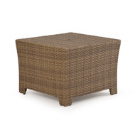 Kokomo Outdoor Wicker Wedge Table Oyster Grey