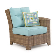 Kokomo Outdoor Wicker Chair with Right Arm Oyster Grey