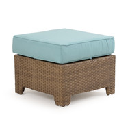Kokomo Outdoor Wicker Storage Ottoman Oyster Grey
