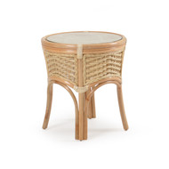 Islamorada Rattan Round End Table Natural