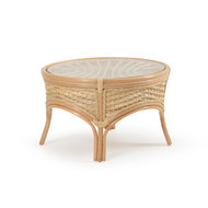 Islamorada Rattan Round Cocktail Table Natural