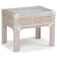 Islamorada Rattan End Table Whitewash