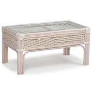 Islamorada Rattan Cocktail Table Whitewash