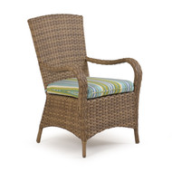 Kokomo Outdoor Wicker Dining Arm Chair Oyster Grey