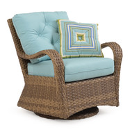 Kokomo Outdoor Wicker Swivel Glider Chair Oyster Grey