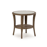 Kokomo Outdoor Wicker End Table Oyster Grey