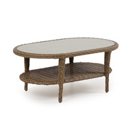 Kokomo Outdoor Wicker Oval Cocktail Table Oyster Grey