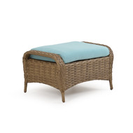 Kokomo Outdoor Wicker Ottoman Oyster Grey