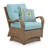 Kokomo Outdoor Wicker Spring Chair Oyster Grey