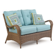Kokomo Outdoor Wicker Loveseat Oyster Grey