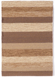Ravella Stripe Sand Indoor Outdoor Rug in Terracotta