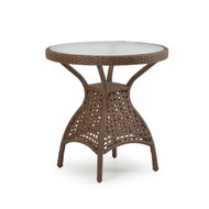 """Coquina Key Outdoor Wicker 28""""  Round Bistro Table Driftwood"""