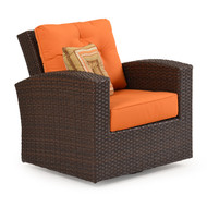 Kokomo Outdoor Wicker Swivel Glider Tortoise Shell