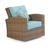 Kokomo Outdoor Wicker Swivel Glider Oyster Grey