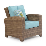 Kokomo Outdoor Wicker Lounge Chair Oyster Grey