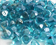 10 Pound Jar of  Zircon Fire Glass Powder Blue