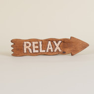 Relax Sign Brown
