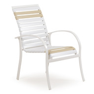 Cancun Strap Patio Dining Chair Pebble
