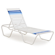 Cancun Strap Patio Chaise Lounge Blue