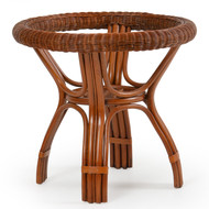 Bali Rattan Round Table Base Pecan Glaze
