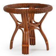 Bali Rattan Round Table Base Pecan Glaze