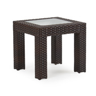Kokomo Outdoor Wicker End Sectional Table Tortoise Shell