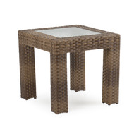 Kokomo Outdoor Wicker Sectional End Table Oyster Grey