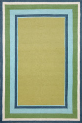 Multi Border Seaside Indoor Outdoor Rug