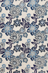 Floral China Blue Indoor Outdoor Rug