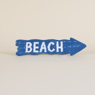 Beach Sign Blue