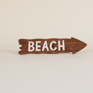Beach Sign Brown