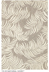 Tropez Leaf Ivory Indoor Outdoor Rug