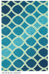 Venice Beach Blue Green Indoor Outdoor Rug