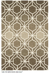 Venice Beach Beige & Brown Indoor Outdoor Rug