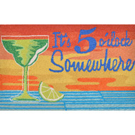 """It's 5 O'Clock Somewhere"" Welcome Mat"