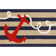 Nautical Anchor Welcome Mat